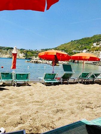 Capri Private Boat Tour from Sorrento: Beach at Ischia