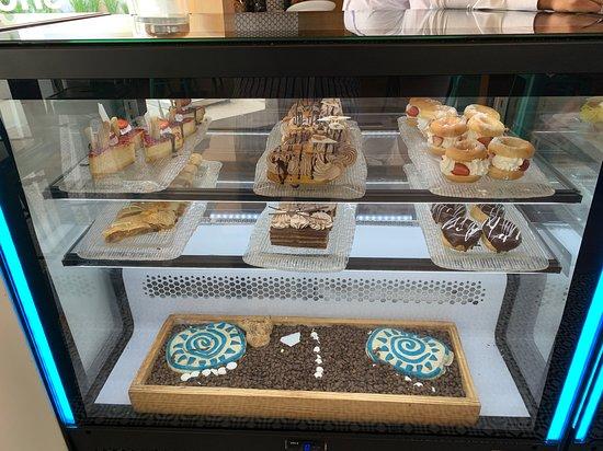 Desert inside coffee shop