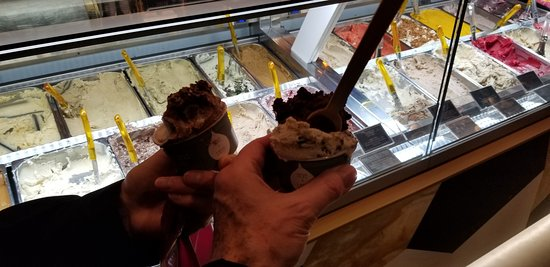Gelato and the selection available