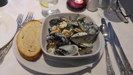 Mussels in cream