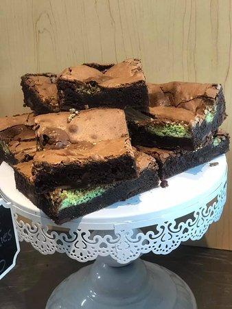Mint aero brownies