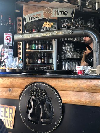 BeerTime: Taps at front of restaurant