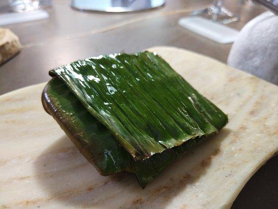Kome: hoja de platano para envolver pescado al horno