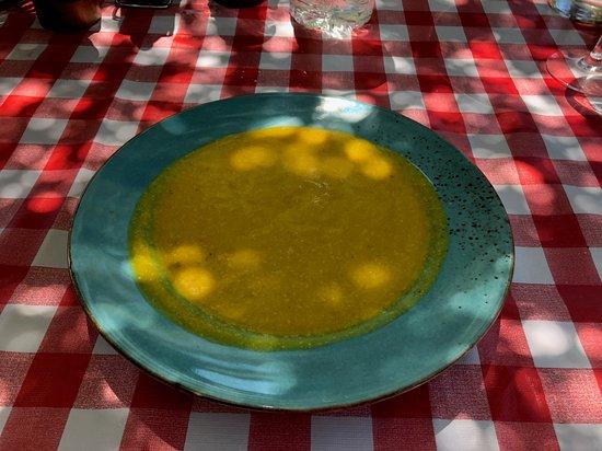 Chill-Outdoor Cafe: sopa de calabaza