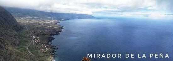Mirador de la Peña. Vistas de La Frontera desde el mirador