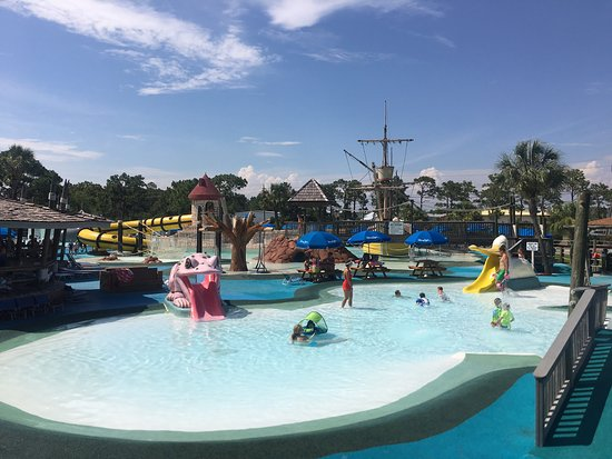 "Shipwreck Island Waterpark: From the ""Tadpole Hole"" for small kids to the ""White Knuckle River"", ""Pirates Plunge"" and ""Tree Top Drop"" for the older kids there are rides for every age group. They also have the traditional ""Wave Pool"" and ""Lazy River""."