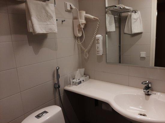 Arthur Hotel: Lavandino e wc