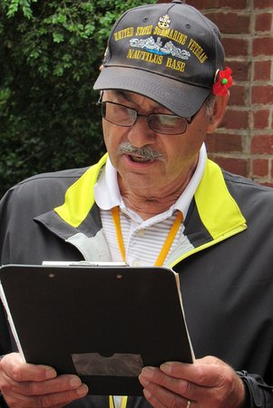 Mount Vernon Grounds Pass: Joe (from our tour group) read the prayer at The Wreath Ceremony (11:00 A.M.)