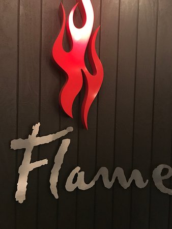 Flame Bar and Grill: Awesome signage
