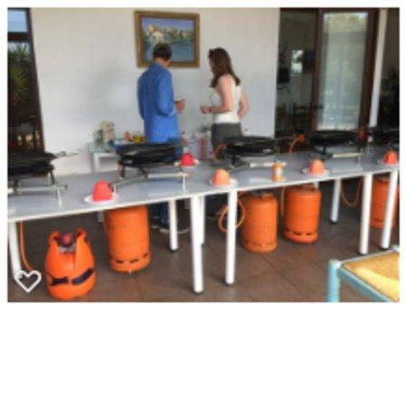 Authentic Valencian Paella Cooking Class: organização entes de iniciar a aula