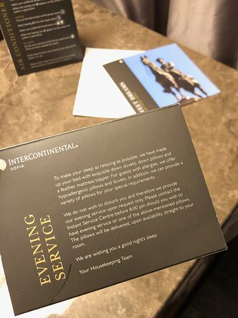 InterContinental Sofia -  turndown service only on request
