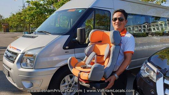 PHONG NHA PRIVATE CAR-FORD TRANSIT PRIVATE VAN-BABY CAR SEAT
