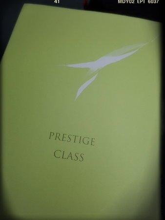 Korean Air: KA 608: Prestige Class Menu