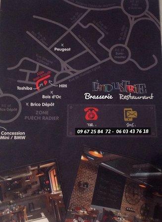 L Industrie Montpellier Restaurant Brasserie Decoration Industrielle Plan Maps Picture Of L Industrie Montpellier Tripadvisor