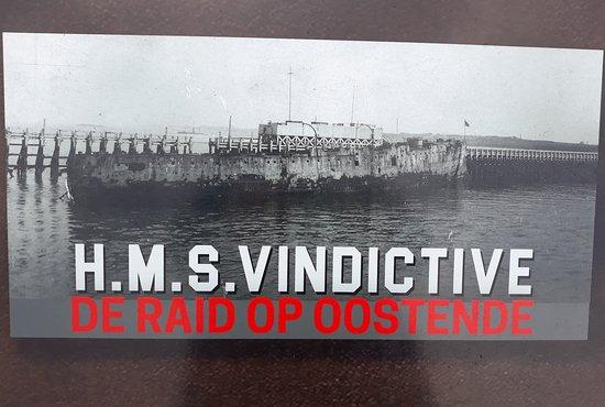 HMS Vindictive: Panneau explicatif