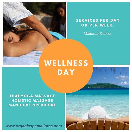 You can book your wellness day!  Mallorca & Ibiza.   Massages, facial, yoga and manicure.