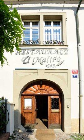 Restaurant U Malířů 1543 - building in the center of Prague
