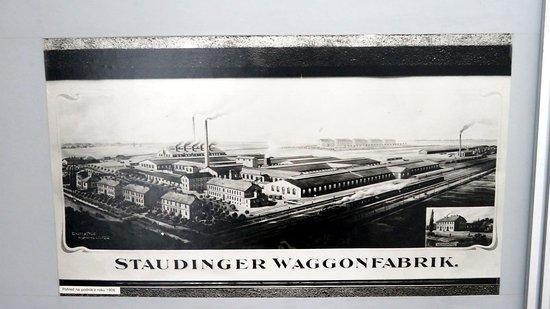 Studenka, Republika Czeska: Altes Gemälde aus der Fabrik aus besseren Zeiten.