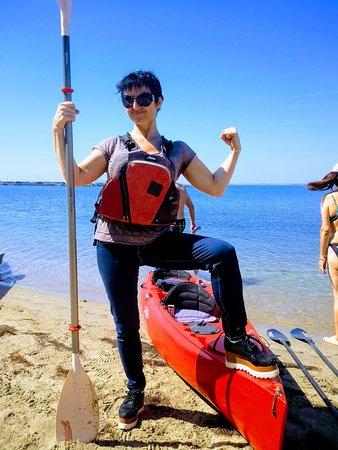 Sea Kayaking Ravda-Nesebar : Powerful blue jeans kayaking! :D 🌞