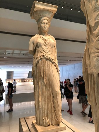 Acropolis Museum: original caryatid from the Erechtheion