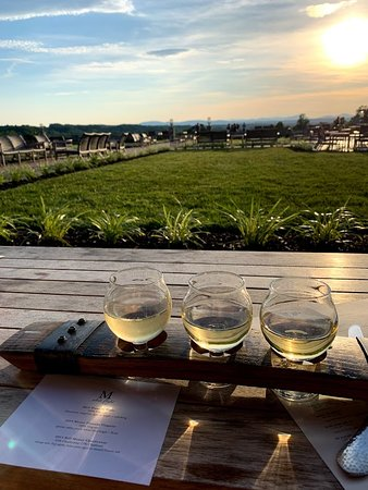 Tasting Room & Taphouse at Mount Ida Reserve : wine flgiht