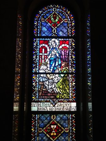 Hubertus, WI: One window in St Therese chapel