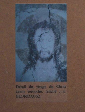 Eglise Saint-Nizier de Burnand: Eglise de Burnand : Le décor roman aprés restauration - Le Christ du jugement dernier