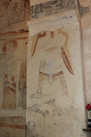 Eglise de Burnand : Le décor roman aprés restauration