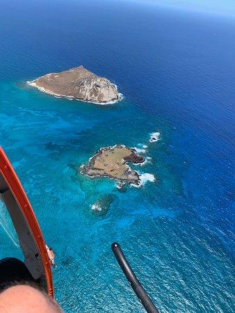 Open-Door Helicopter Tour over Oahu: Rabbit Island