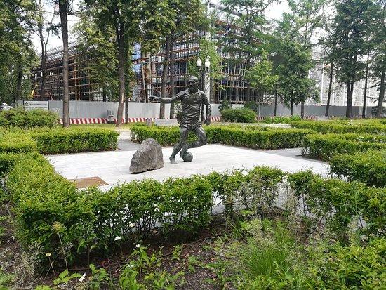 Monument to Streltsov E.A. in Luzhniki