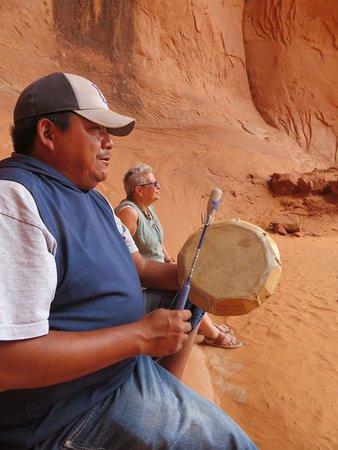 Amory singing a Navajo prayer