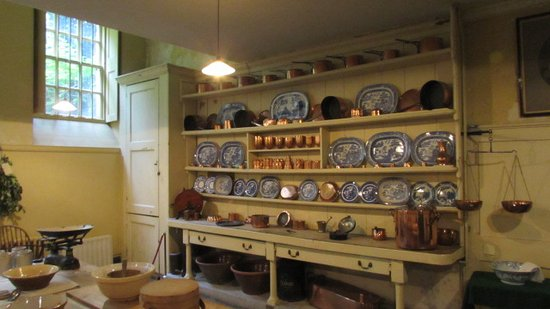 Uppark House and Garden: The kitchen , Where the servants did there jobs .