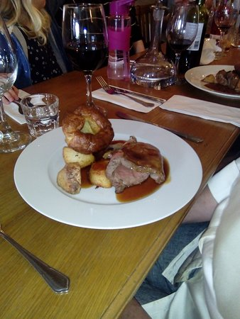 Beef with Yorkshire pud and roast spuds