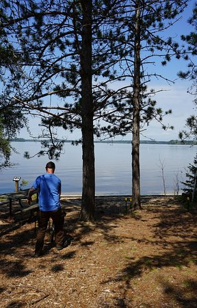 Side Lake, MN: Looking at the beach!