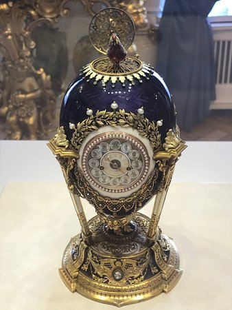 Faberge Museum: Faberge egg with hidden bird