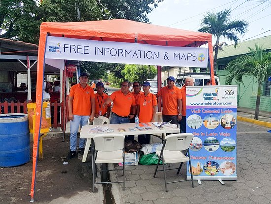 Chinandega, Nicaragua: We offer free information and maps at your arrival at gate #3 of Corinto Port. We place an orange tent (canopy) with an English speaking tour guide in our Help Desk to assist you with any information you need, get additional tips or ideas for your day in Corinto, arrange any service or to get a free map of Corinto, León or Nicaragua.
