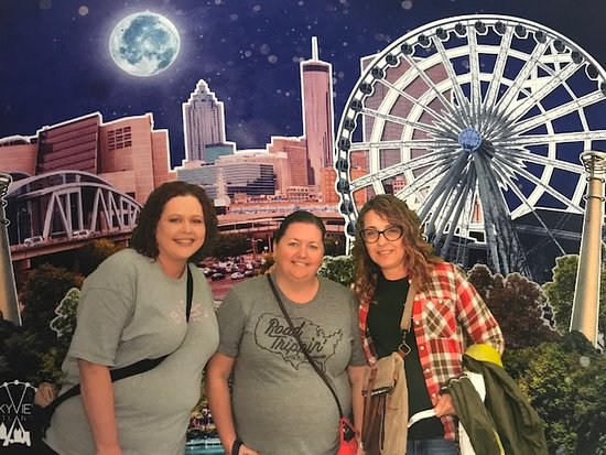 SKYVIEW Atlanta: One of the fun souvenir photos you can purchase...we bought the package because they were so fun!