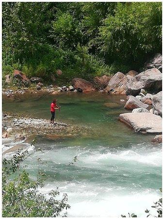Banjar, India: Fishing @sunshine Himalayan cottage