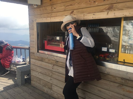 World's highest elevation hot dog stand.  Don't miss it.
