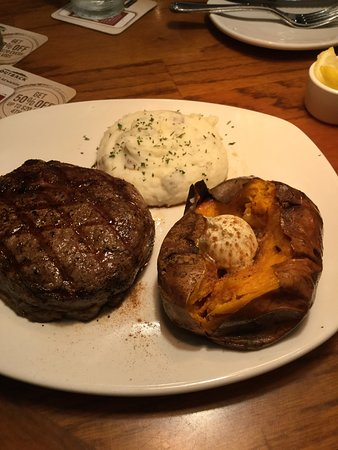 birthday girls 14oz ribeye that was cooked wrong and was suppose to be loaded mashed potatoes but arrived as regular mashed potatoes picture of outback steakhouse rocky mount tripadvisor birthday girls 14oz ribeye that was