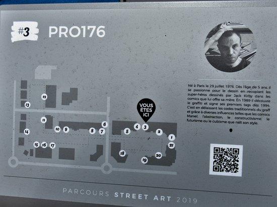 Clos du Chêne Street-Art : Panneau explicatif