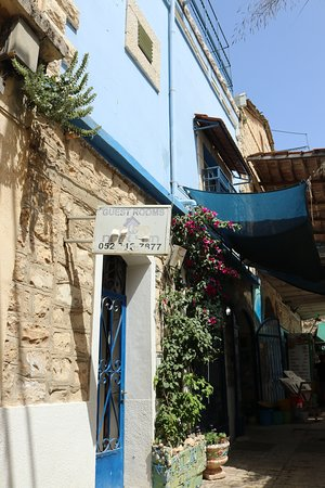 7.  Safed, Israel; blue to confuse spirits in The Old City of Safed