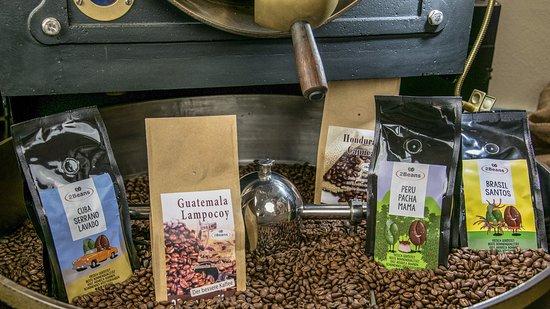 Santos mit grünem Kaffee