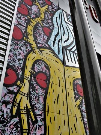 Clos du Chêne Street-Art : Détail de la seconde fresque