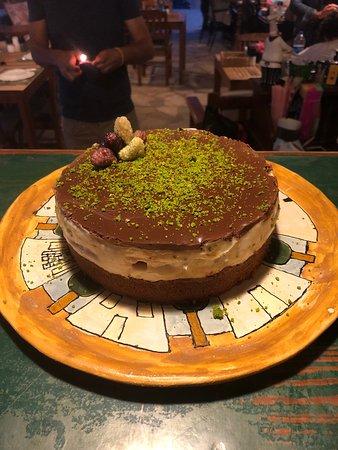 Cafe Inn: Pistachio chocolate birthday cake