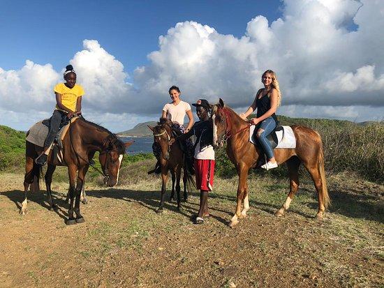 Gros Islet Quarter, Saint Lucia: The whole gang