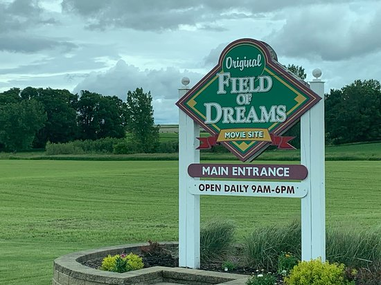 Field of Dreams Movie Site Guided Home Tour in Dyersville: Field of Dreams Entrance Sign