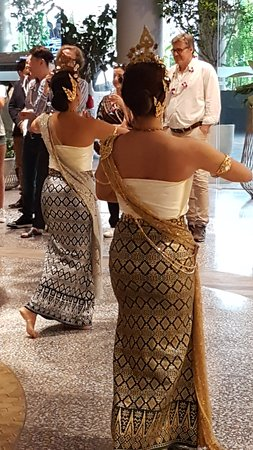 'Swaying Dancing Girls at the entrance of Phuket Central Mall