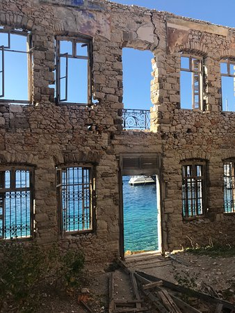 timeless - abandoned waterfront palace at chalki island