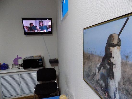 Ufa, Rusko: телевизор в кухне